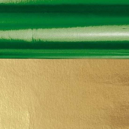 Folie op rol groen/goud 80 cm