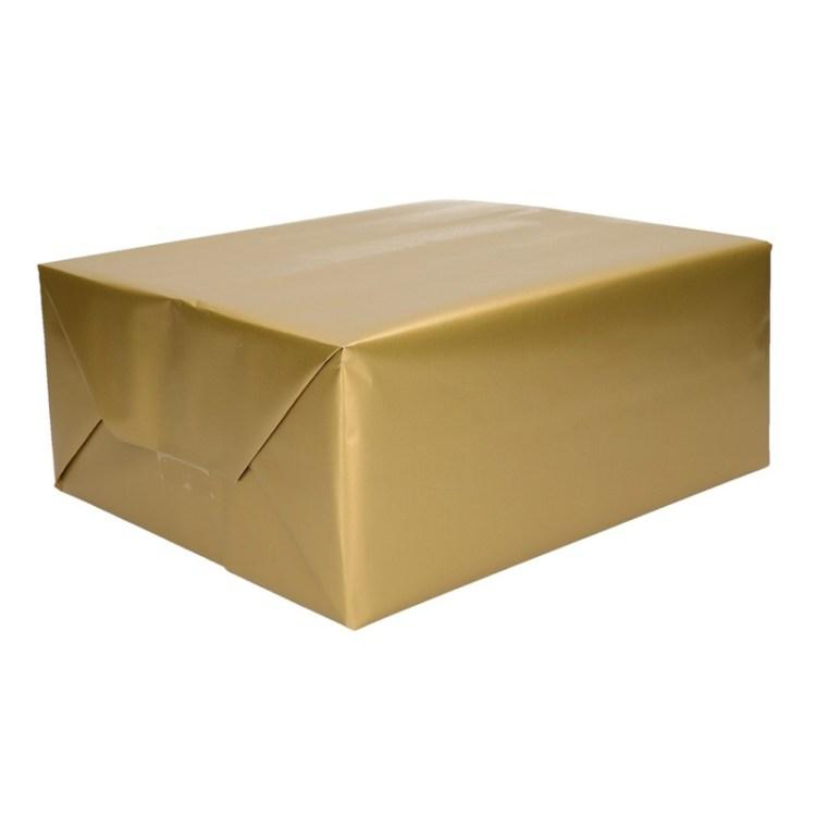 Goud cadeaupapier op rol 70 x 200 cm