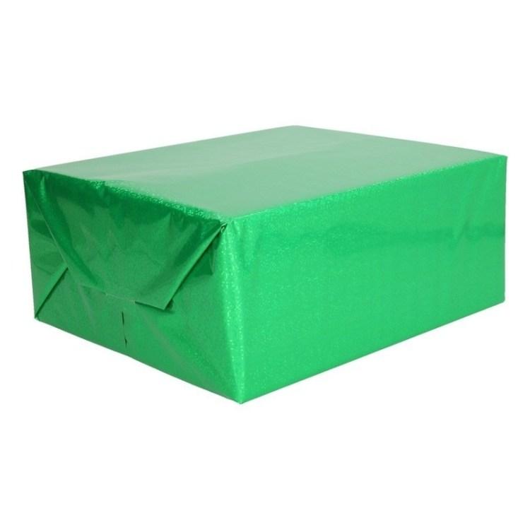 Groene metallic glitterfolie 150 cm