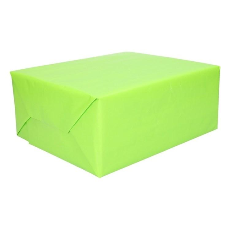 Inpakpapier/cadeaupapier lime groen 200 x 70 cm op rol