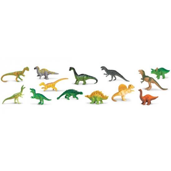 Koker met plastic dinosaurussen