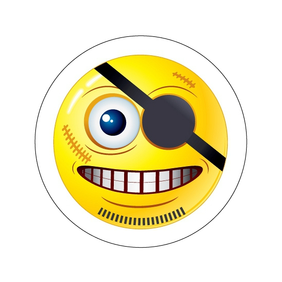 Piraten Smiley stickers type 8