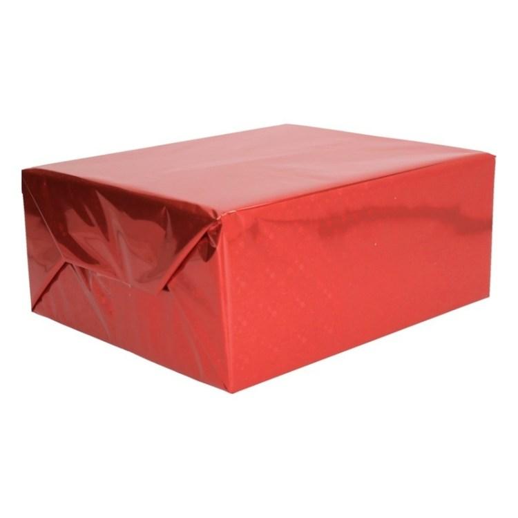 Rode metallic glitterfolie 150 cm