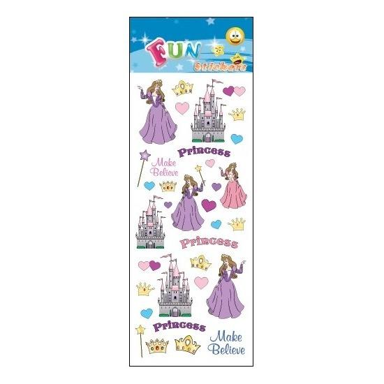 School stickers prinses en kasteel