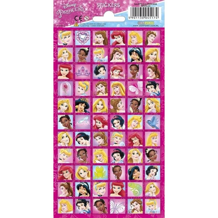 Stickerset prinsessen gezichten