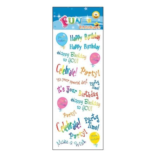 Stickersetje happy birthday
