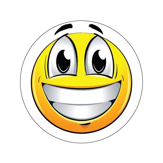 Vrolijke Smiley stickers type 1