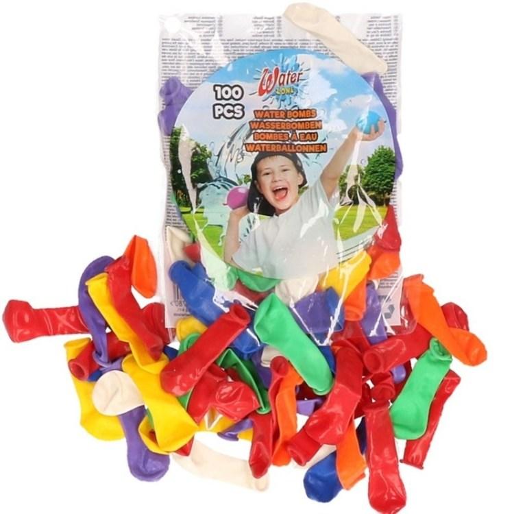 Zakje met 100 gekleurde waterballonnetjes