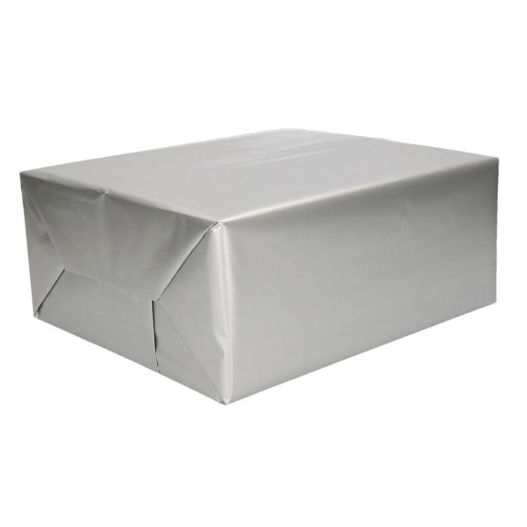 Zilver cadeaupapier op rol 70 x 200 cm