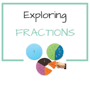 KINDERGARTEN MATH – FRACTIONS