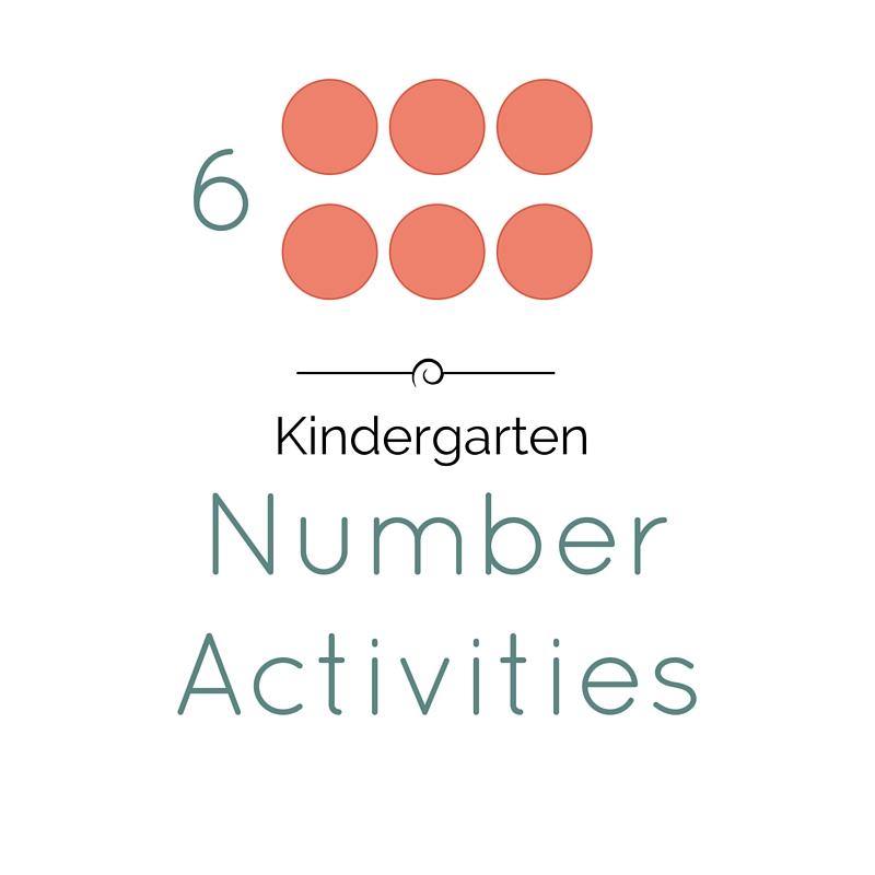 KINDERGARTEN NUMBER ACTIVITIES - Kindergarten Lessons