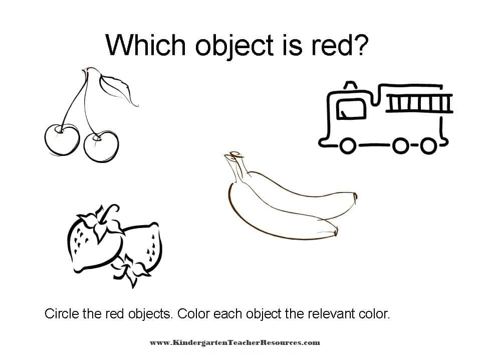 color worksheets identifying colors