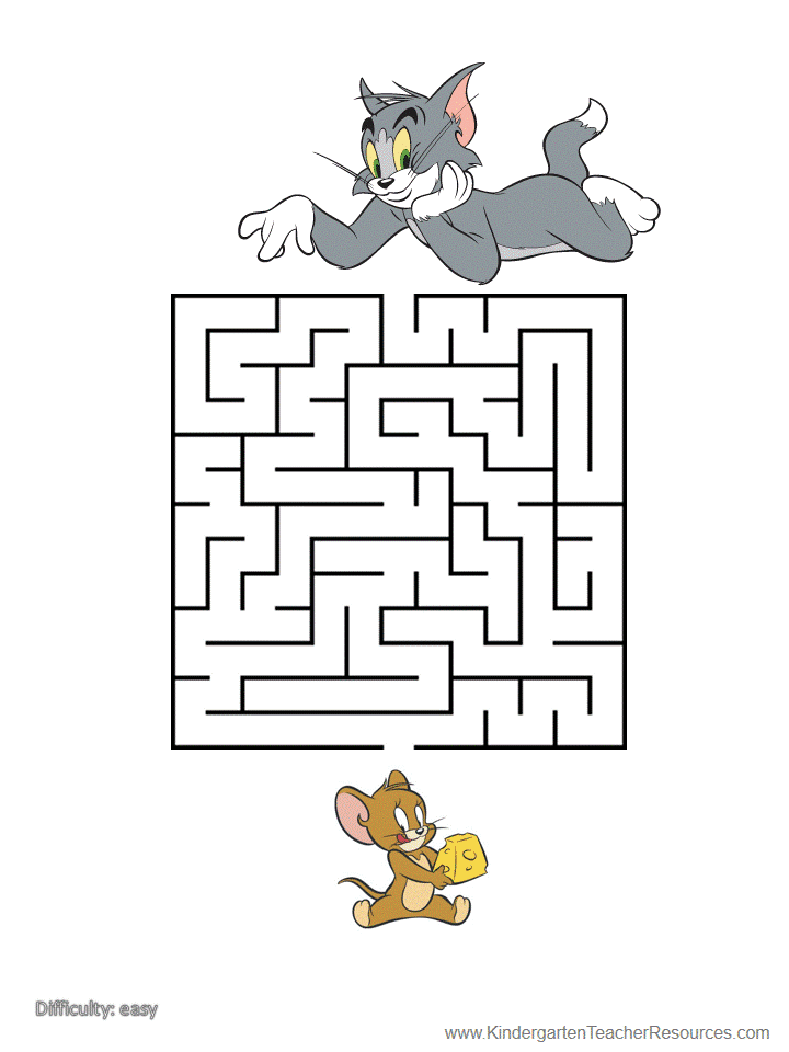 Preschool Heart Maze Printable