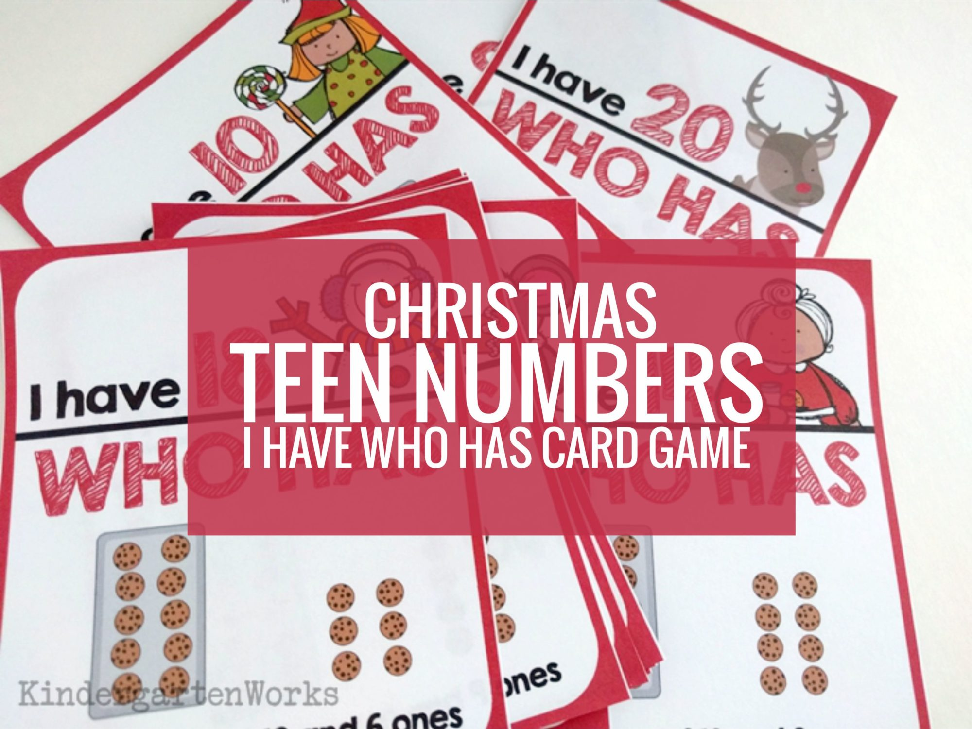 Christmas Teen Numbers I Have Who Has Card Game Printable