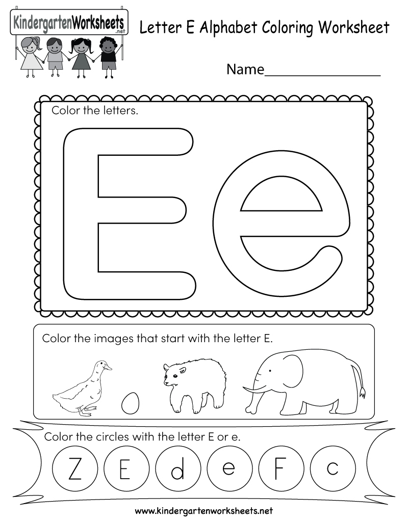 Free Worksheet Letter E Worksheets For Preschool letter e coloring sheet tracing pages for kids worksheet free kindergarten english for