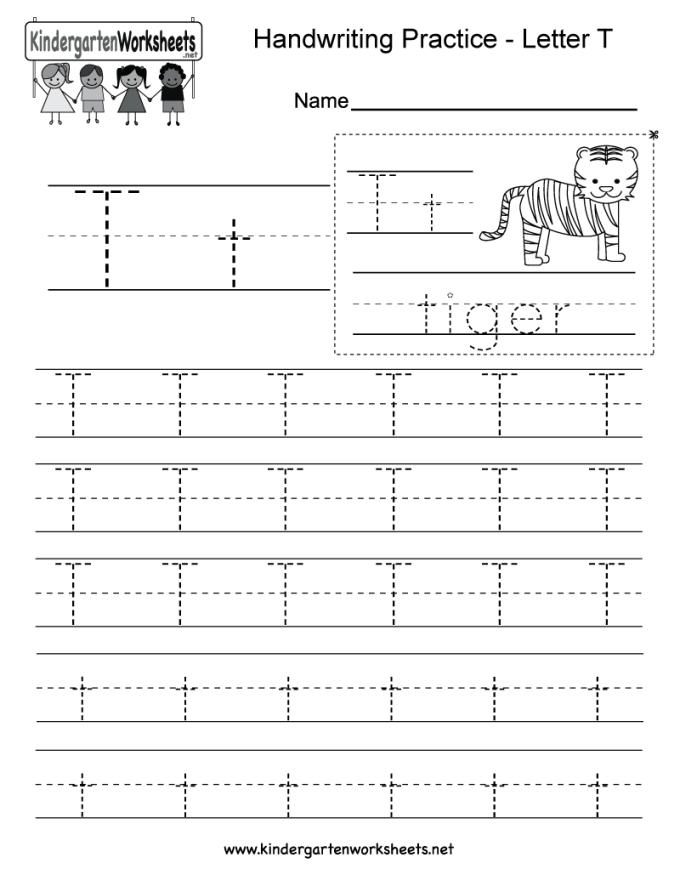 Letter T Kindergarten Worksheets Dulahotw