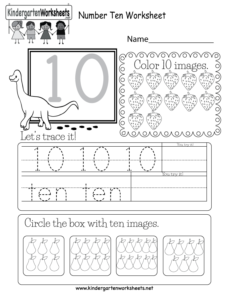 Number Ten Worksheet
