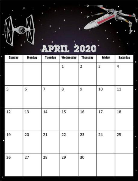 Free Star Wars Calendar 2020 Printable