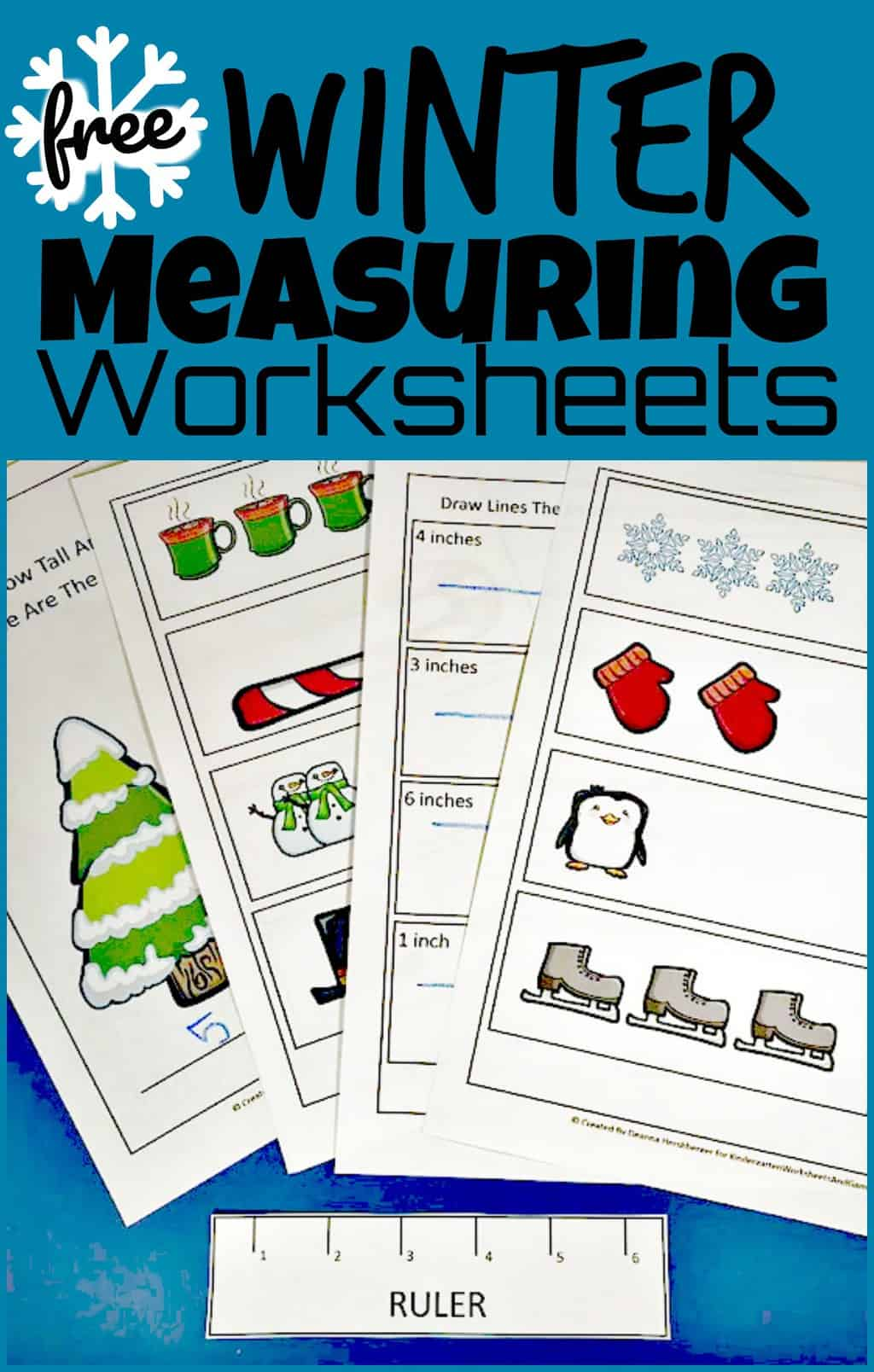 Free Winter Ruler Measurements Worksheets