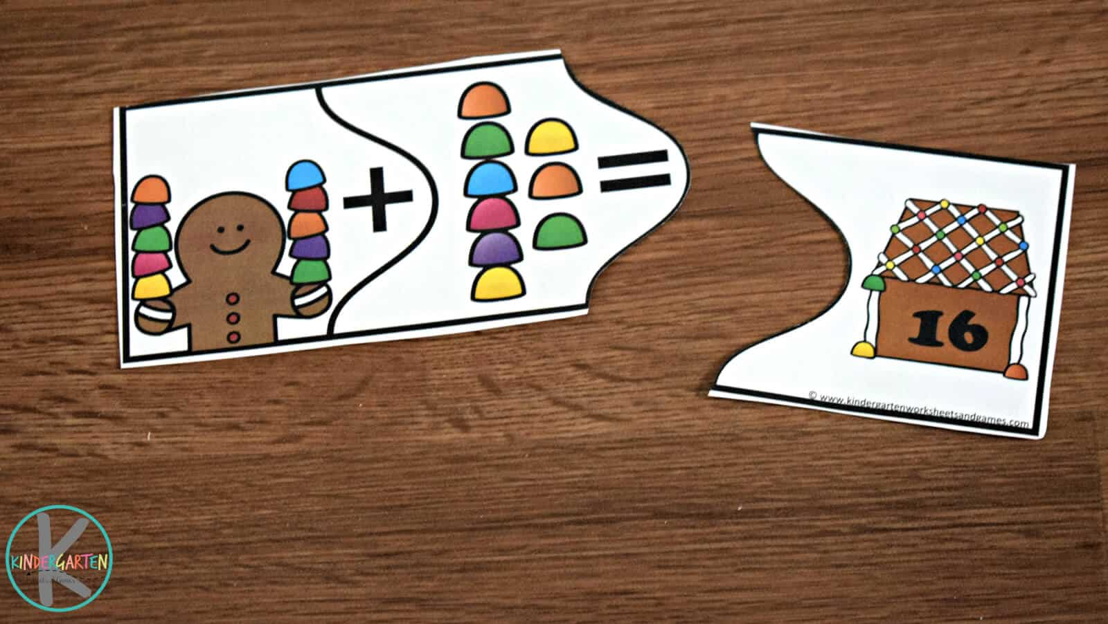 Gingerbread Addition Puzzles