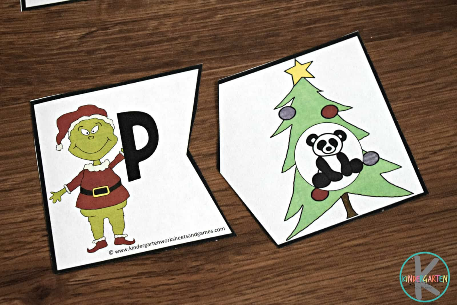 Grinch Alphabet Puzzles Kindergarten Worksheets And Games