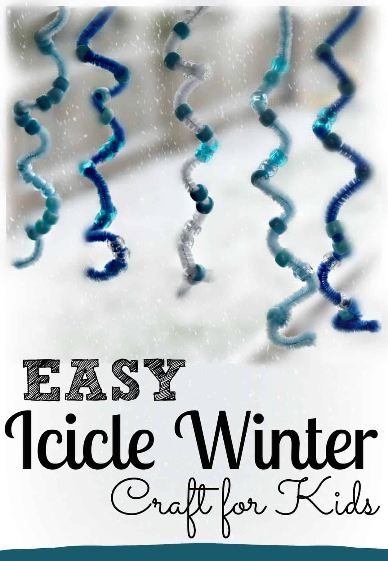 Easy Icicle Winter Craft Kindergarten Worksheets And Games
