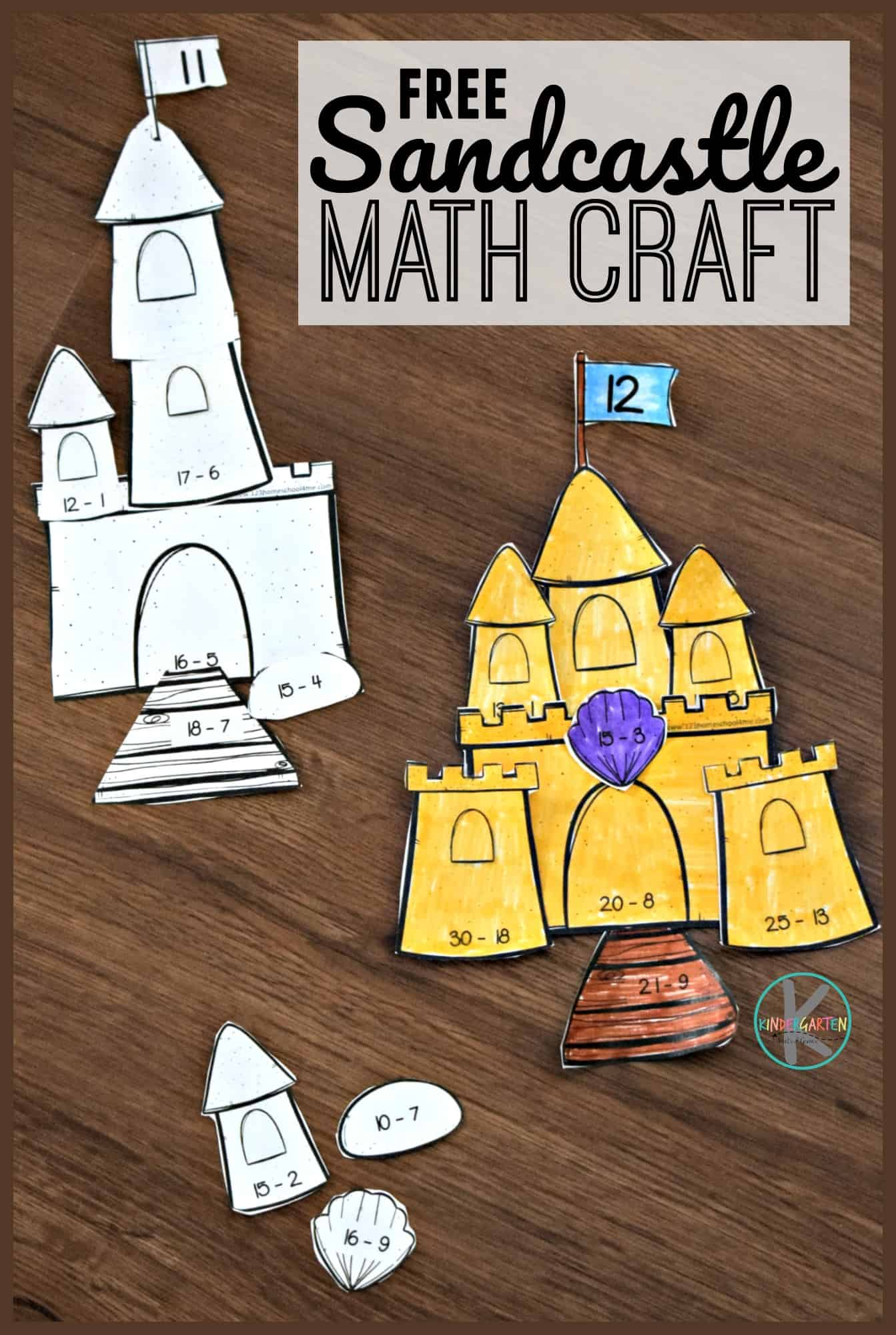Sandcastle Subtraction Math Craft