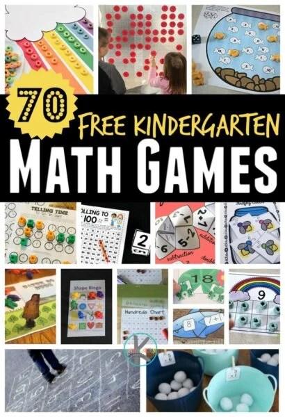 70 Free Kindergarten Math Games Kindergarten Worksheets