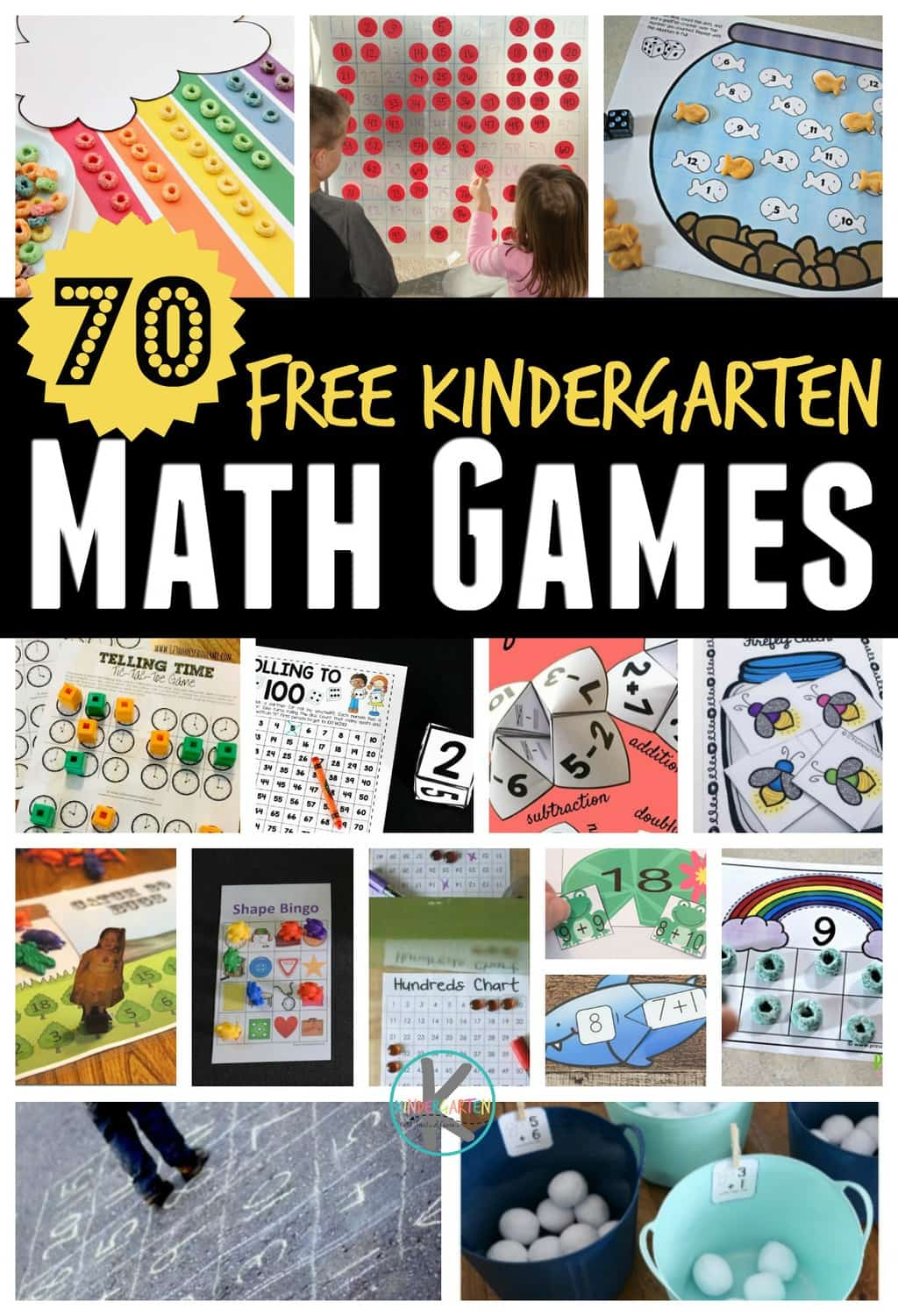 70 Free Kindergarten Math Games Kindergarten Worksheets