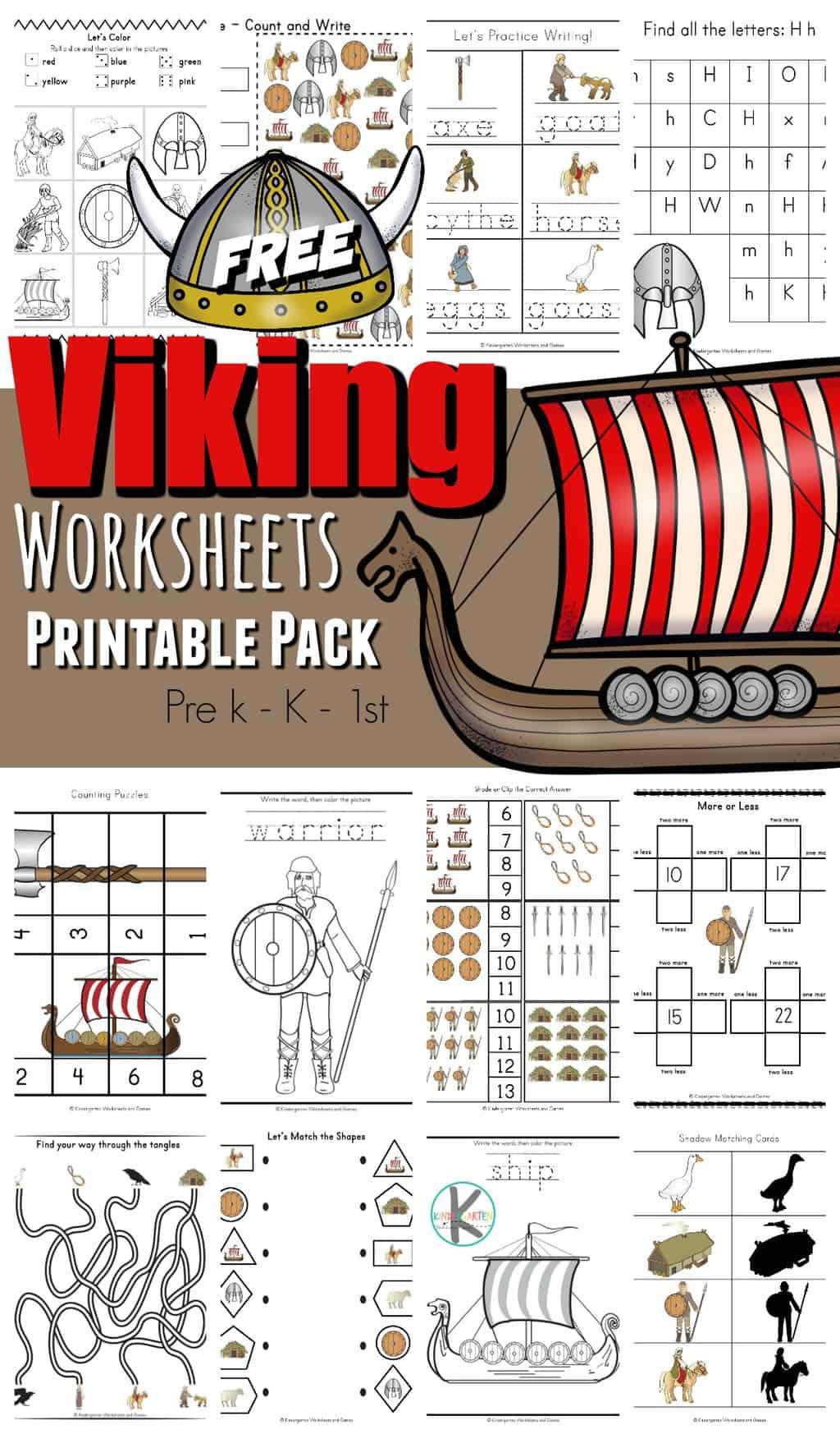 Viking Worksheets Printable Pack