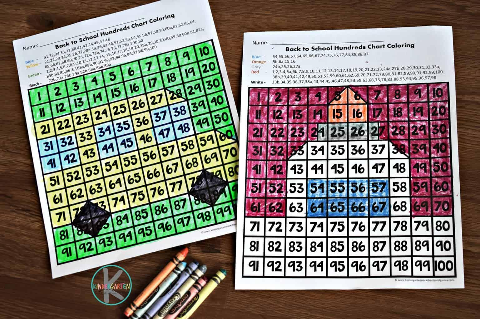 Back To School Interactive Hundreds Chart Kindergarten Worksheets And Games