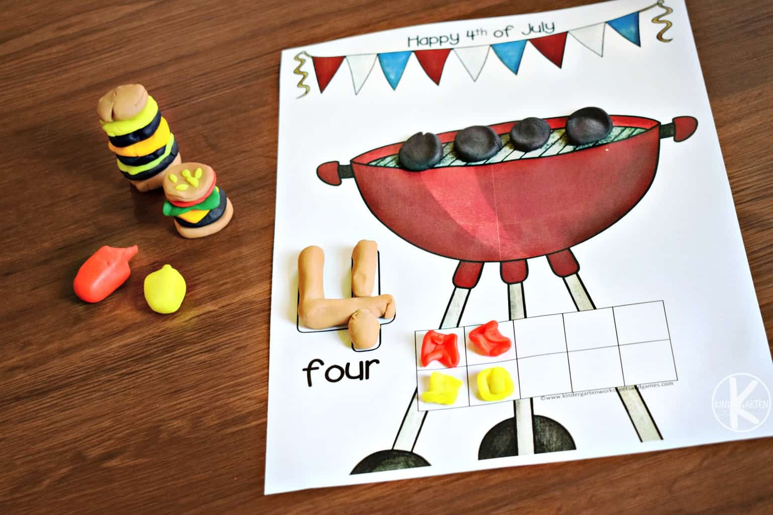 4th Of July Worksheet Kindergarten Games