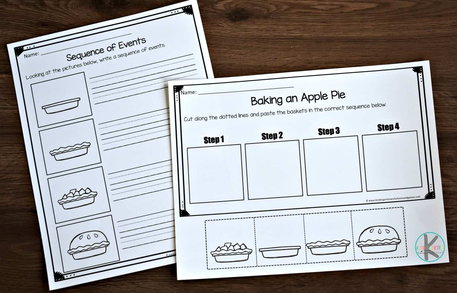 Fall Sequencing Worksheets