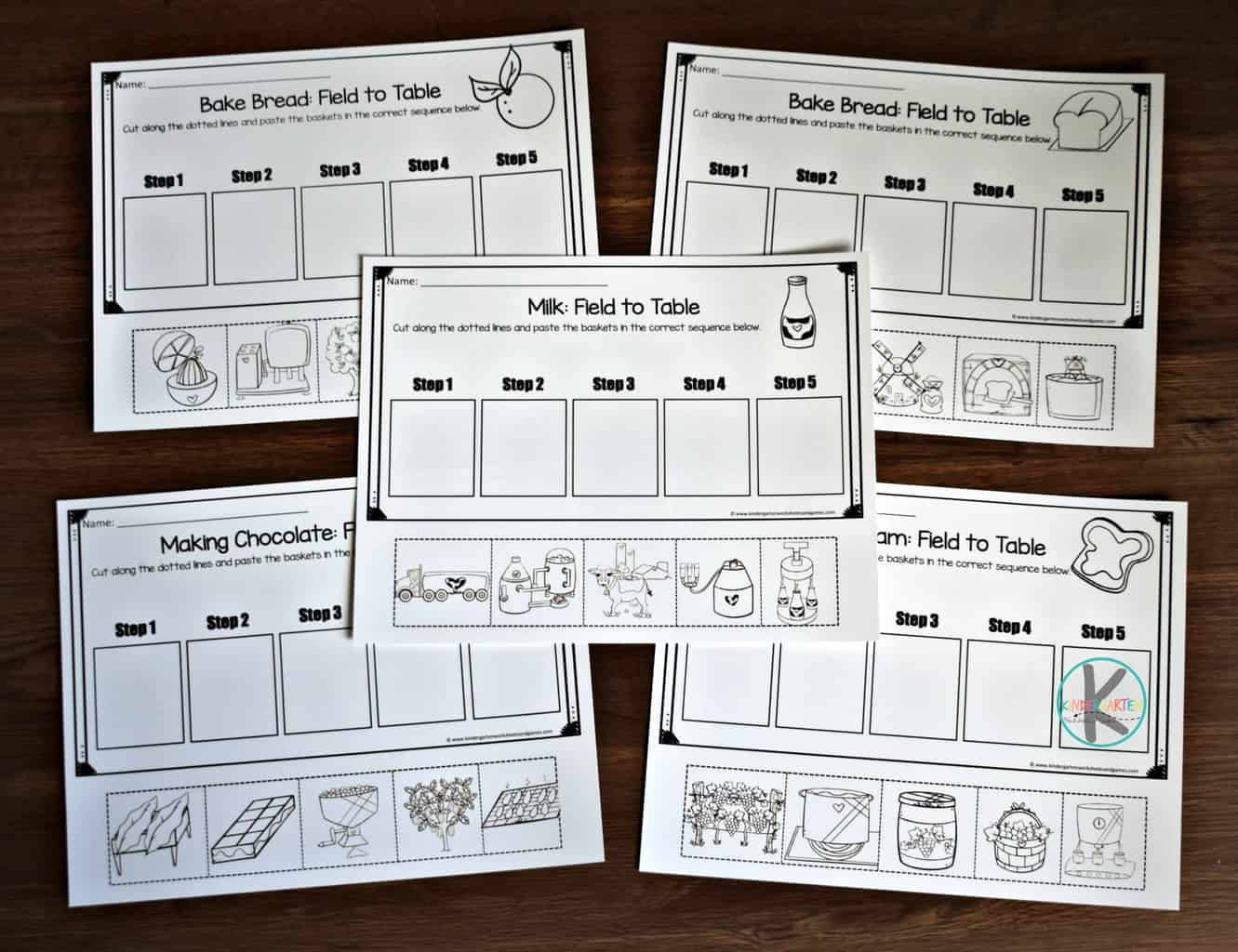 Farm Sequencing Worksheets Kindergarten Worksheets And Games