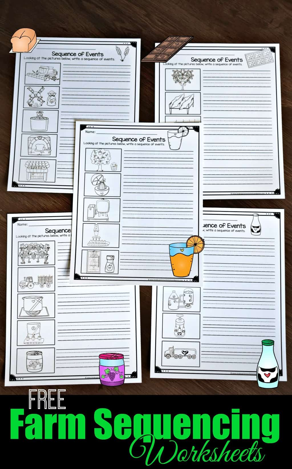 Free Farm Sequencing Worksheets