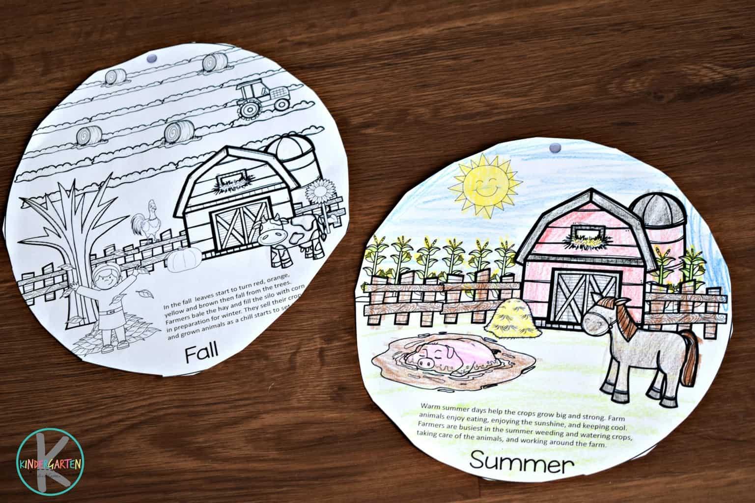 Free Seasons On The Farm Printable Flipbook