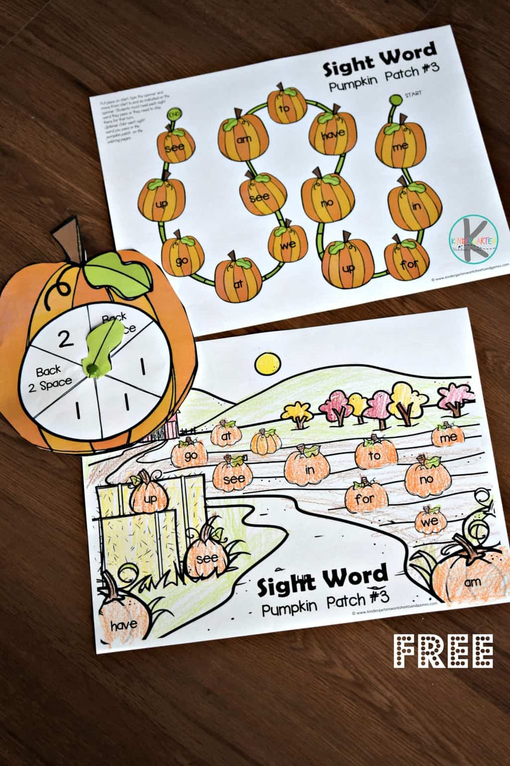 Pumpkin Sight Words Game Kindergarten Worksheets And Games