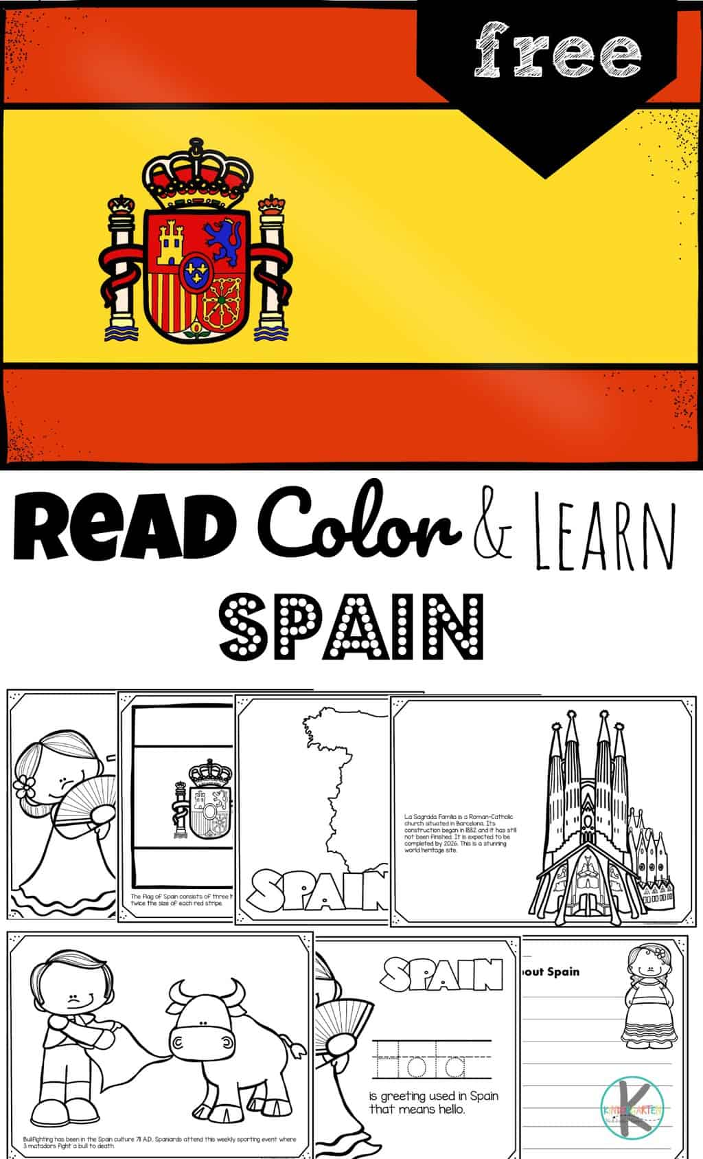 Free Read Color And Learn About Spain