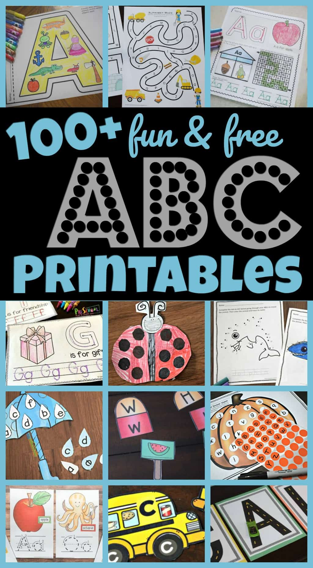 100 Free Alphabet Printables