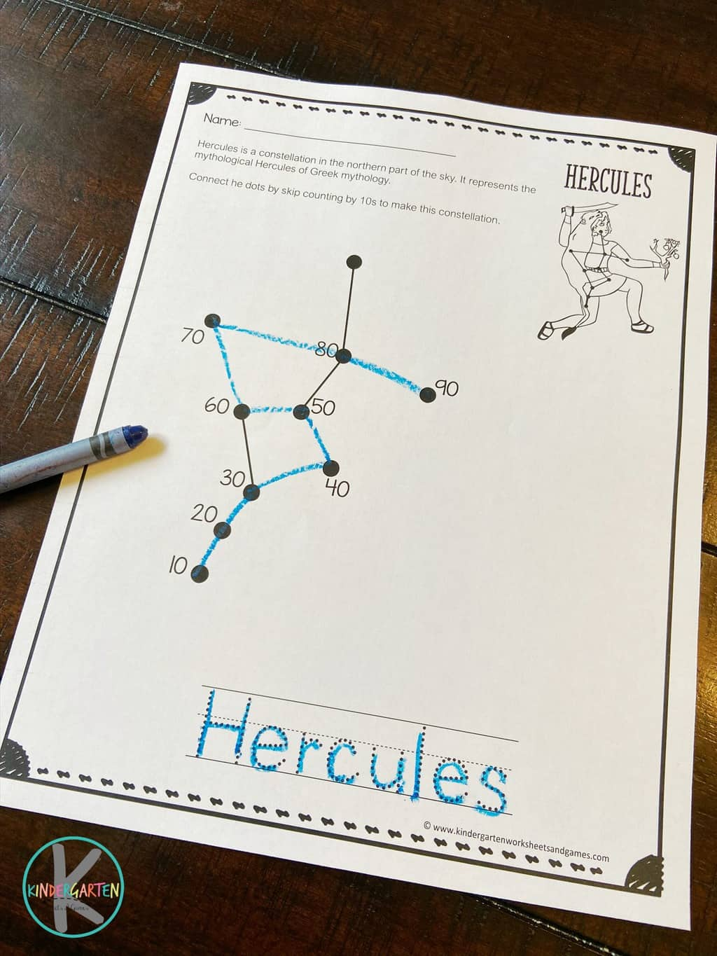 Free Skip Counting Constellations Printable