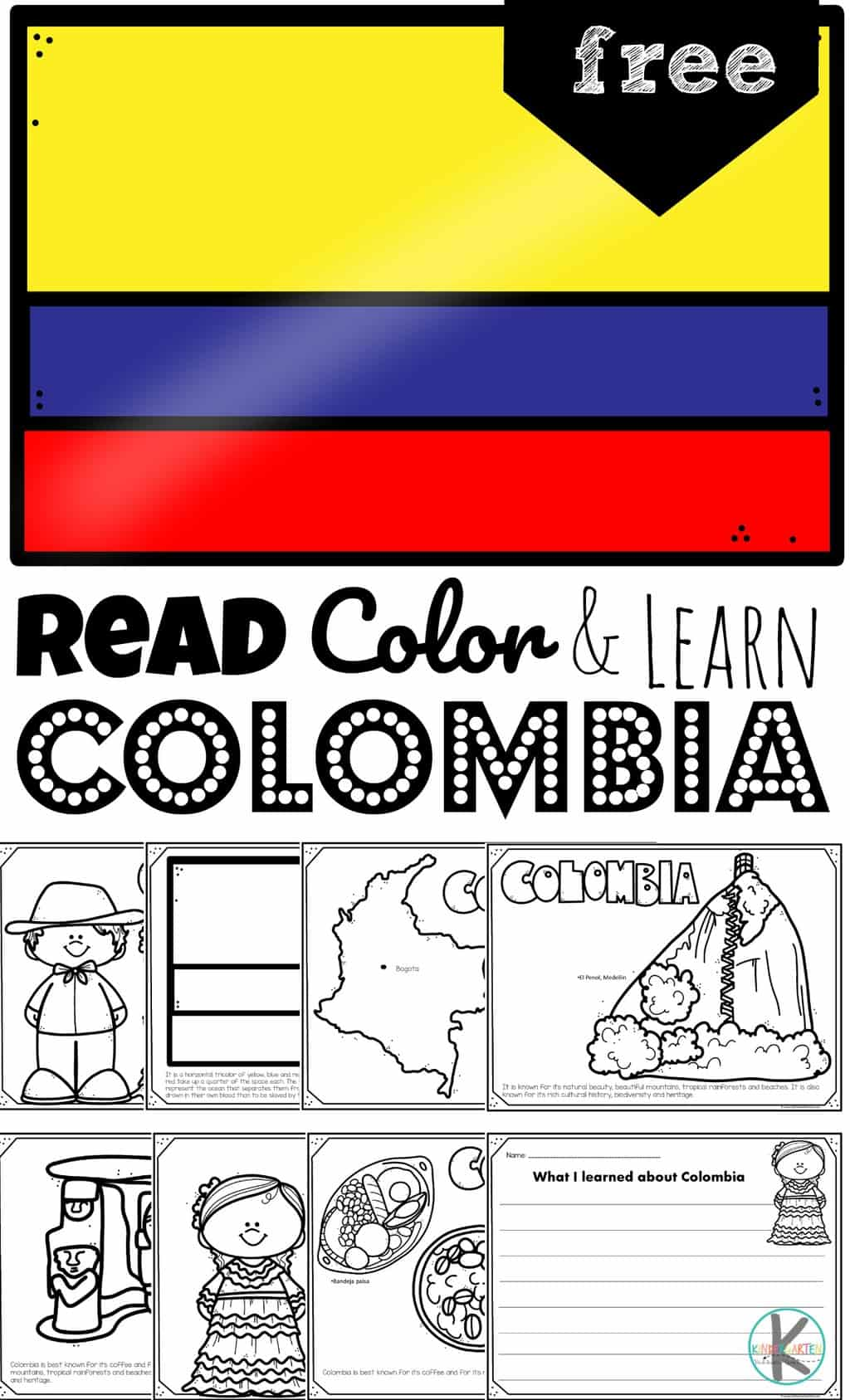 Free Read Color And Learn About Colombia