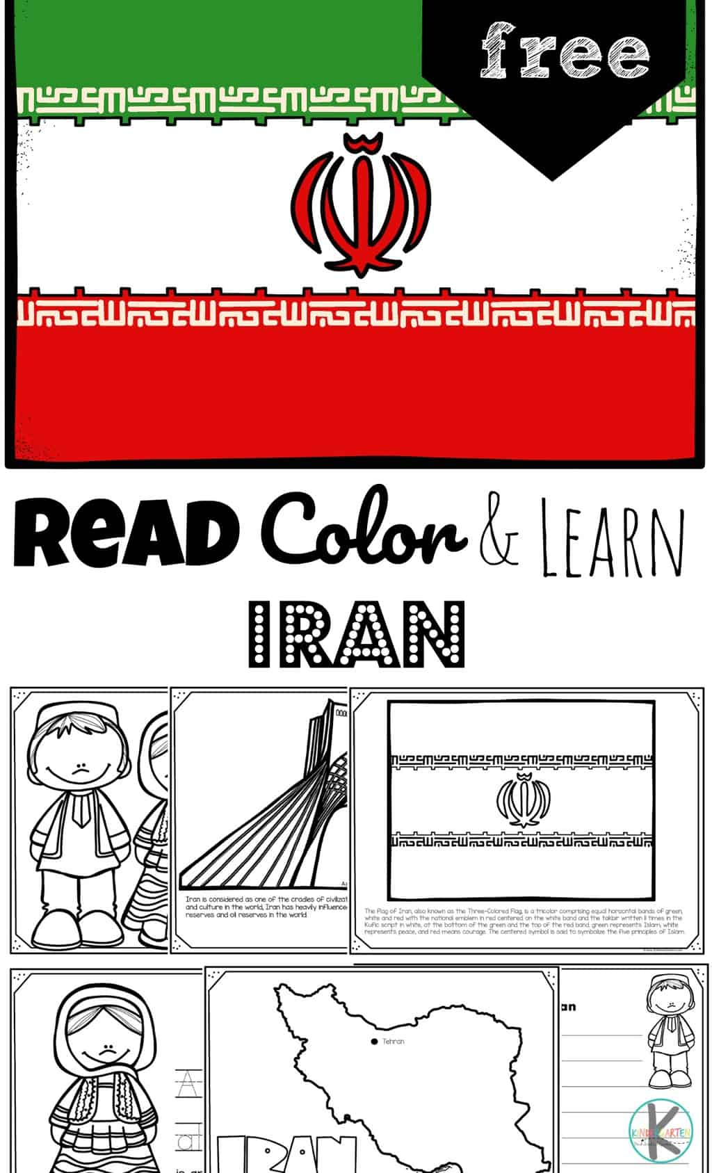 Free Read Color And Learn About Iran