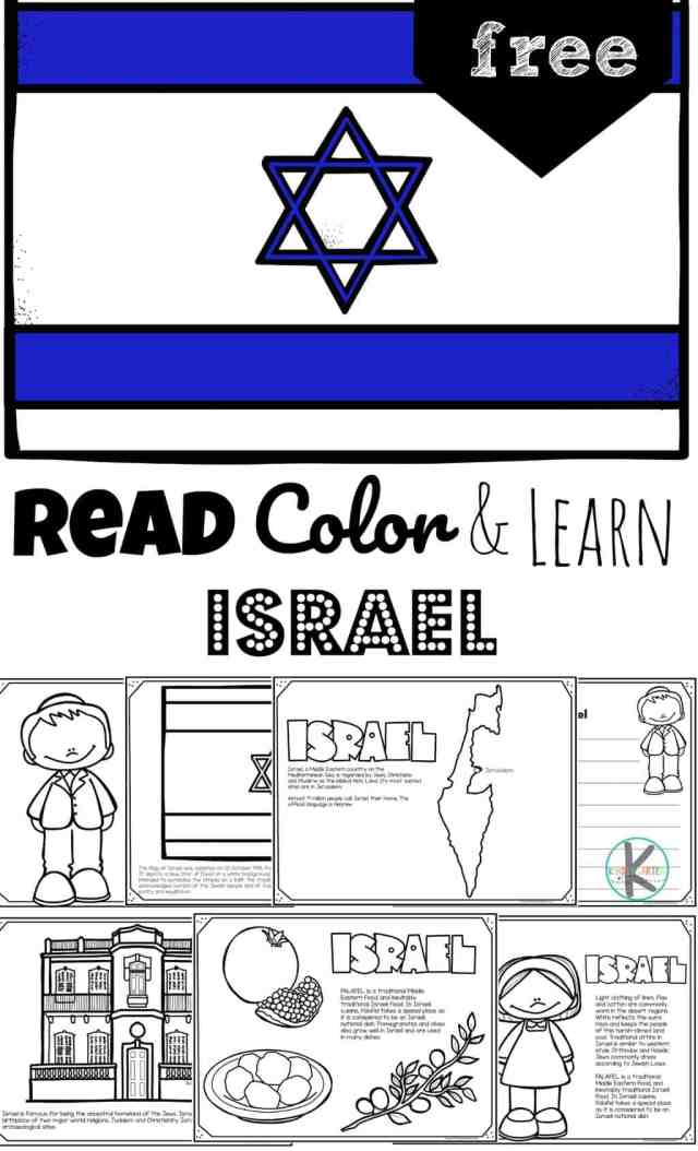 FREE FREE Printable Israel Coloring Pages for Kids