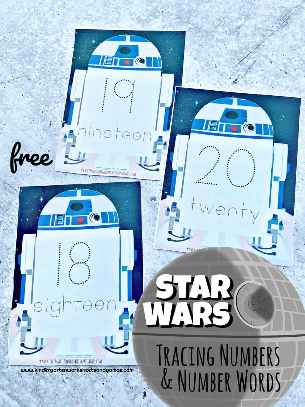 Free Star Wars Number Tracing
