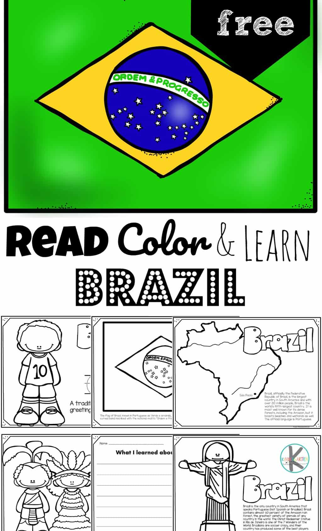 Free Read Color And Learn About Brazil