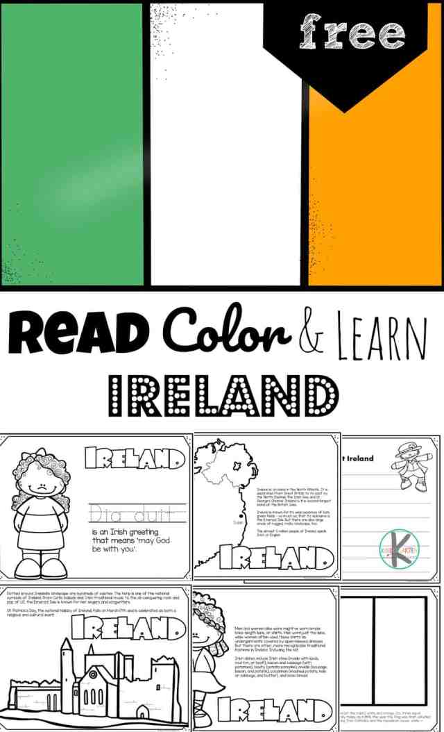 FREE Ireland Coloring Page for Kids to Read, Color, and Learn