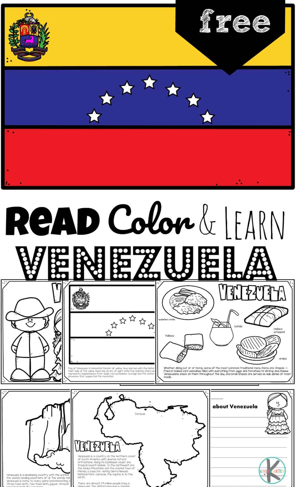 Free Read Color And Learn About Venezuela For Kids