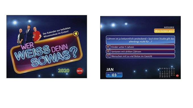 Wer Weiss Denn Sowas 2020 Kalender Familienspielmagazin