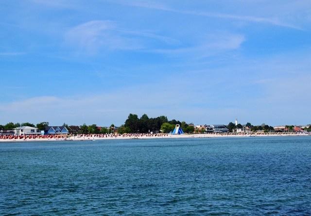 Strand Grömitz mit Riesenrutsche