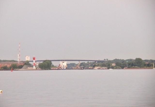 Ausblick auf die Schleuse Kitzeberger Strand